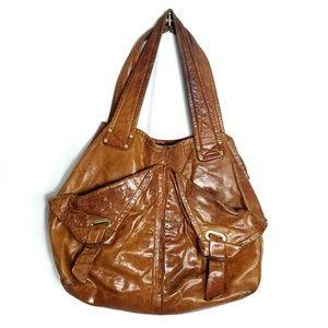 Kooba Side Envelope Leather Hobo Handbag Purse